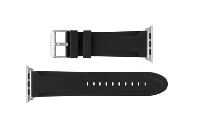 Apple Watch 42mm Replacement Strap, Black Genuine Silicone APP3377
