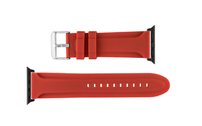 Apple Watch 42mm Replacement Strap, Red Genuine Silicone APP3377