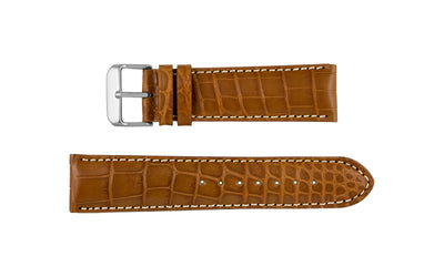 AWB Italian Made - Men's Matte Honey Genuine Louisiana Alligator