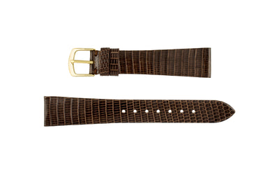 Hadley-Roma Men's SHORT Brown Genuine Java Lizard Watch Strap MS700