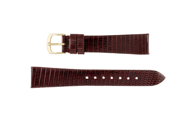 Hadley-Roma Men's Burgundy Genuine Java Lizard Watch Strap MS700