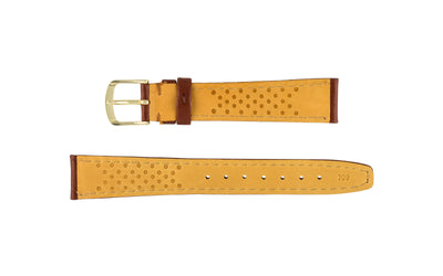 Hadley-Roma Women's Brown Hypo-Allergenic Genuine Leather Watch Strap LS709
