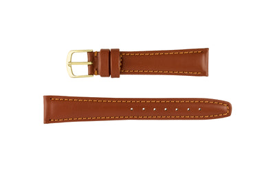 Hadley-Roma Men's LONG Brown Hypo-Allergenic Genuine Leather Watch Strap MS709