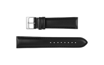 Hadley-Roma Men's Black Genuine Italian Calfskin Watch Strap MS743