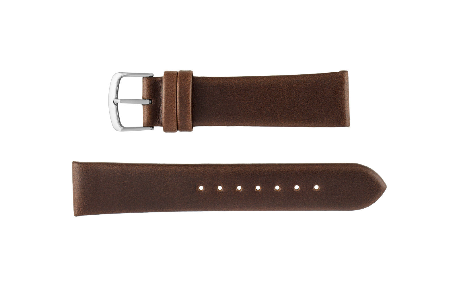 Hadley-Roma Men's Brown Genuine Oil Tan Leather Watch Strap MS780
