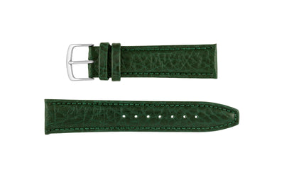 Hadley-Roma Men's Green Genuine Shrunken Grain Leather Watch Strap MS788