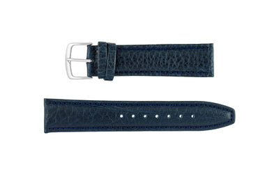 Hadley-Roma Men's Navy Genuine Shrunken Grain Leather Watch Strap MS788