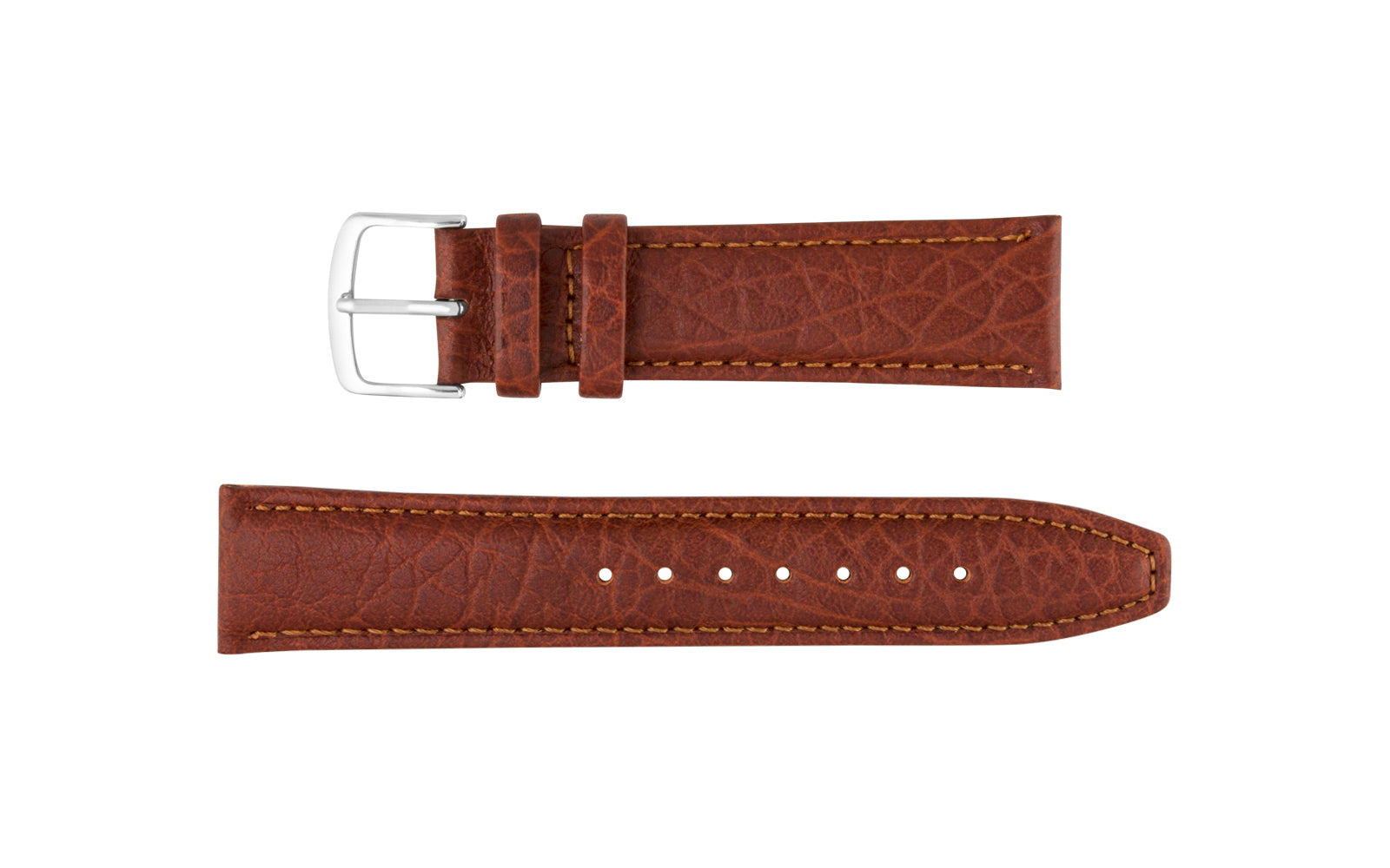 Hadley-Roma Men's Tan Genuine Shrunken Grain Leather Watch Strap MS788