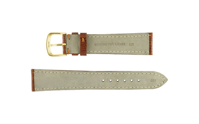 Hadley-Roma Men's Tan Genuine Teju Lizard Watch Strap MS801