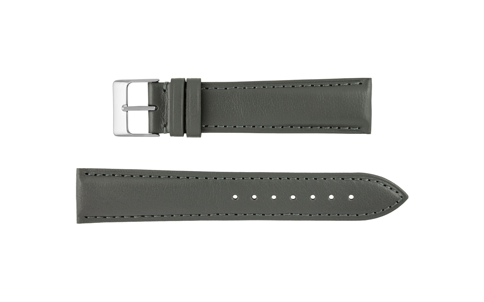 Hadley-Roma Men's Gray Genuine Leather Watch Strap MS829