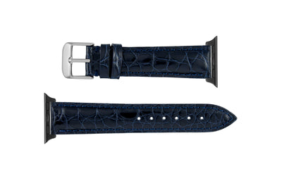 Apple Watch 38mm & 40mm Strap - Women's Navy Genuine Alligator APP829