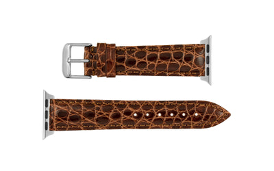 Apple Watch 38mm & 40mm Strap - Women's Chestnut Genuine Alligator APP829