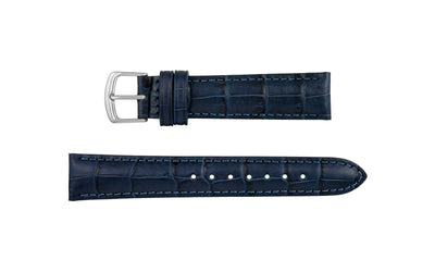 Hadley-Roma Men's Navy Alligator Grain Leather Watch Strap MS835