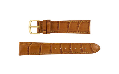 Hadley-Roma Men's Honey Alligator Grain Leather Watch Strap MS835