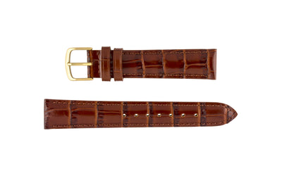 Hadley-Roma Men's LONG Brown Alligator Grain Leather Watch Strap MS836