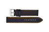 Hadley-Roma Men's Black/Orange Carbon Fiber Watch band MS847