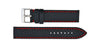 Hadley-Roma Men's Black/Red Carbon Fiber Watch band MS847