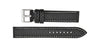 Hadley-Roma Men's Black/White Carbon Fiber Watch band MS847
