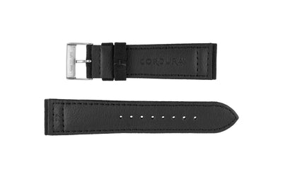 Hadley-Roma Men's Black Genuine Cordura® Watch Strap MS850