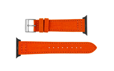 Apple Watch 38mm & 40mm Strap - Orange Genuine Cordura® Watch Strap APP850