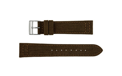 Hadley-Roma Men's Brown Genuine Cordura® Watch Strap MS850