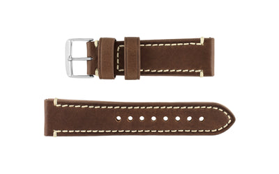Hadley-Roma Men's Brown Genuine Leather Watch Strap MS855