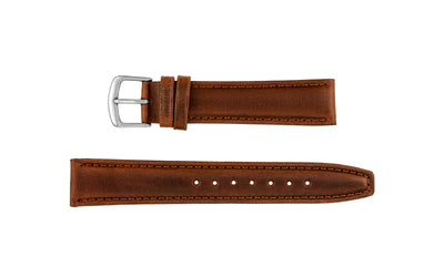 Hadley-Roma Men's LONG Chestnut Genuine Leather Watch Strap MS881