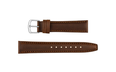Hadley-Roma Men's LONG Brown Genuine Leather Watch Strap MS881