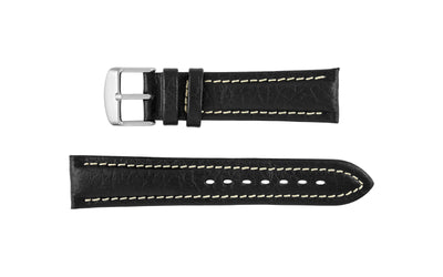 Hadley-Roma Men's Black Genuine Leather Watch Strap MS886