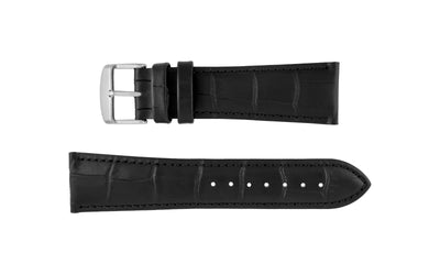 Hadley-Roma Men's LONG Black Genuine Leather Watch Strap MS898
