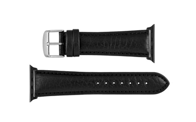 Apple Watch 42mm & 44mm Strap - Men's Black Genuine Leather APP899