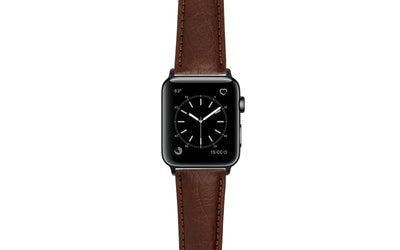 Apple Watch 42mm & 44mm Strap - Men's Brown Genuine Leather APP899