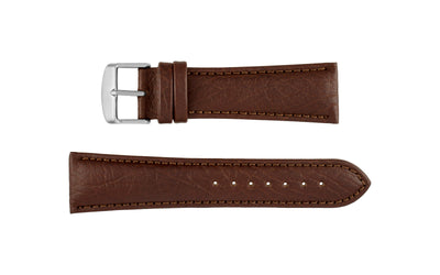 Hadley-Roma Men's Brown Shrunken Grain Textured Genuine Leather Watch Strap MS899
