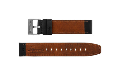 AWB Men's Black Crazy Horse Saddle Leather Watch Strap AWB059-04