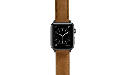Apple Watch 38mm & 40mm Strap - Tan Crazy Horse Saddle Leather Watch Strap APP059-04