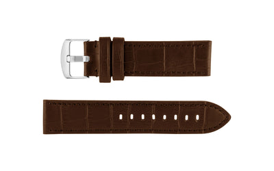 Hadley-Roma Men's Brown Alligator Grain Embossed Genuine Leather Watch Strap MS910