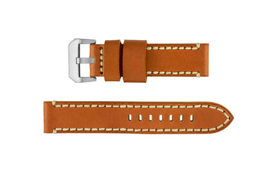 Hadley-Roma Men's Tan Wide Genuine Leather Watch Strap MS914