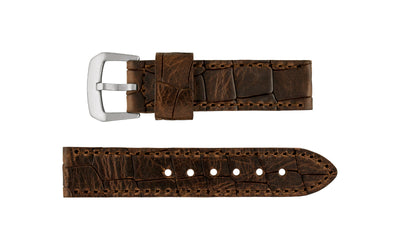Hadley-Roma Men's Brown Oil-Tanned Heavy Genuine Leather Watch Strap MS916