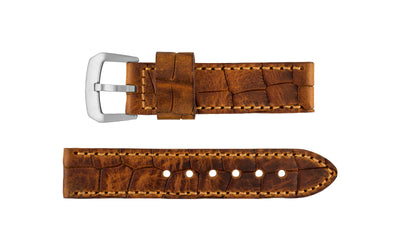Hadley-Roma Men's Tan Oil-Tanned Heavy Genuine Leather Watch Strap MS916