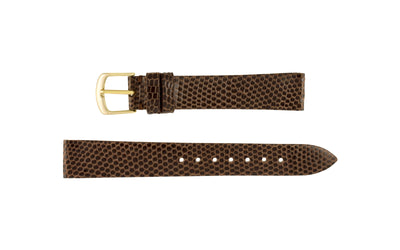 Hadley-Roma Men's LONG Brown Genuine Java Lizard Watch Strap MS970