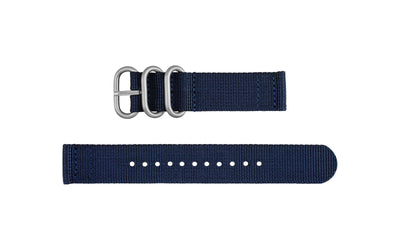 AWB Navy Two-Piece Ballistic Nylon NATO Watch Strap