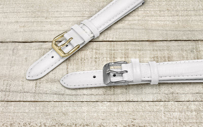 DB Straps Women's LONG White Teju Lizard Grain Leather Watch Strap QGDB08203LW