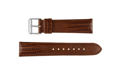 DB Straps Men's Havana Brown Teju Lizard Grain Leather Watch Strap QGDB08202