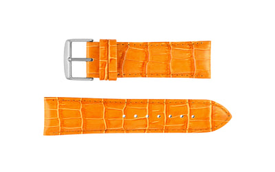 DB Straps Men's Orange Chronograph Style Crocodile Grain Leather Watch Strap QGDB08110