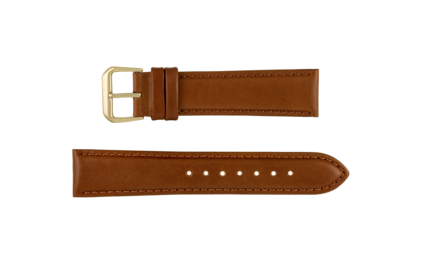 DB Straps Men's Havana Brown Smooth Leather Watch Strap QGDB08117