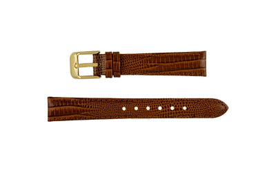 DB Straps Women's Havana Brown Teju Lizard Grain Leather Watch Strap QGDB08202