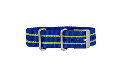 TIMEX Weekender Royal Blue & Lime Stripe Nylon Watch Strap