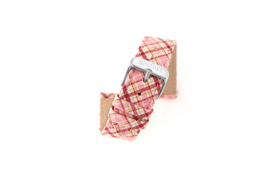 Speidel Women's Plaid Canvas Watch Strap