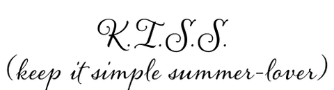 Keep it Simple Summer Lover