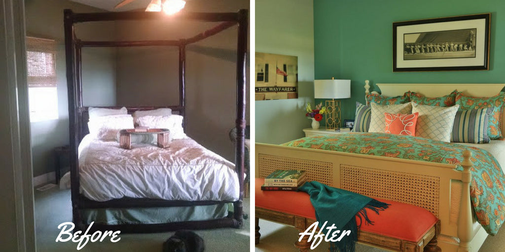 Before & After Master Bedroom Lake Michigan